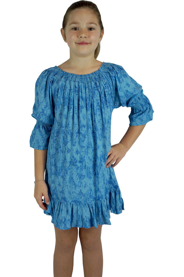 Girls Luna Dress Borneo Print