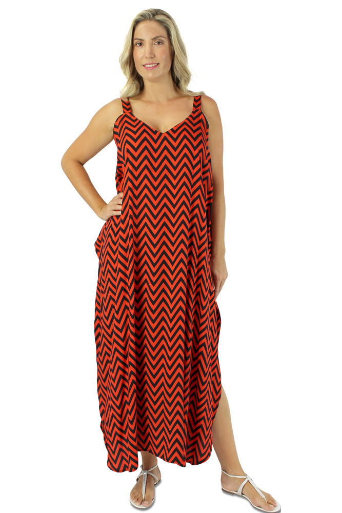 "Harmony Dress ""Zig Zag"" Print"