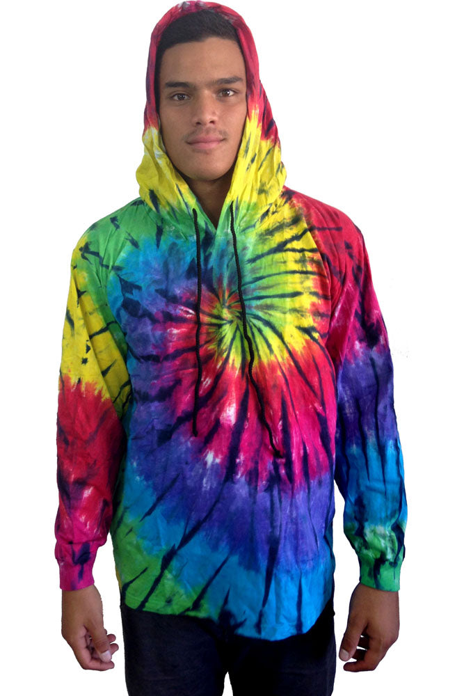"Hooded Tie Dye Jacket ""Dark Knight"""