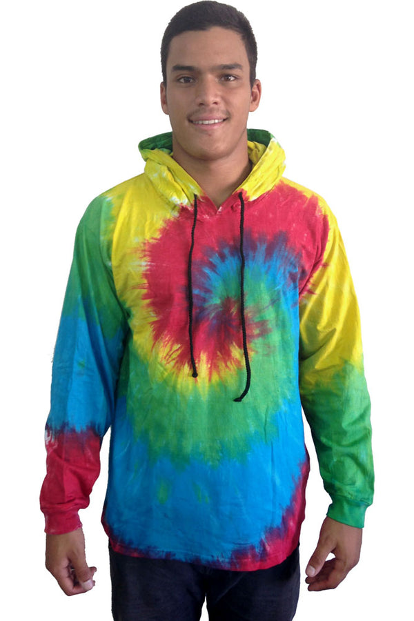 "Hooded Tie Dye Jacket ""Rainbow"""