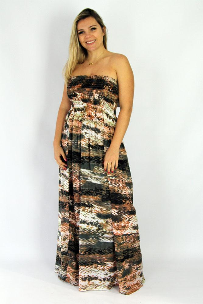 "Long Smock dress ""Abstract Snake"""