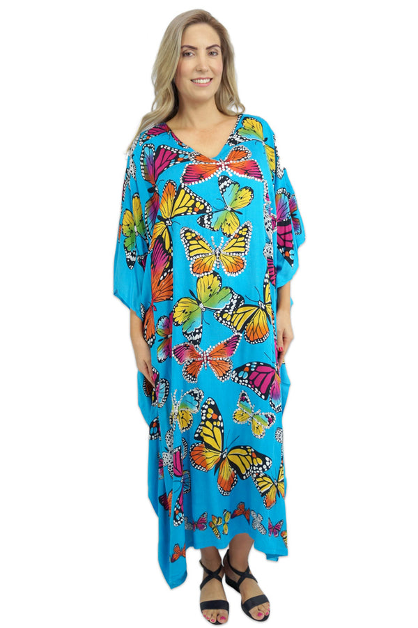 Long Kaftan Bling Butterfly