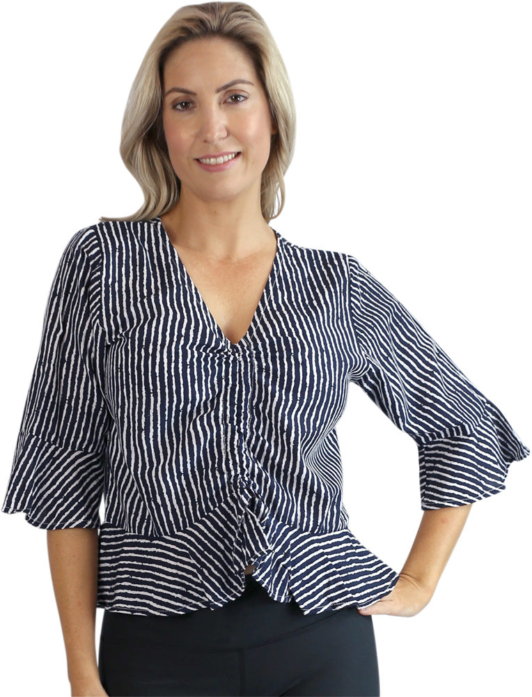 "Ruched Top ""Stripes"""