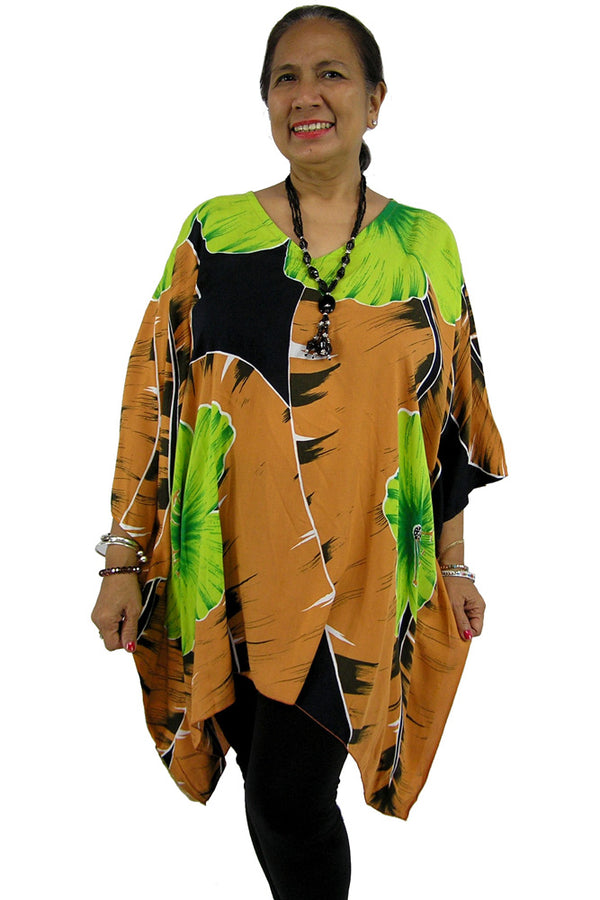 Short Tunic Large Hibiscus