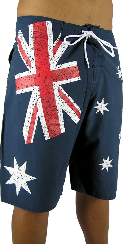 """Aussie"" Distressed shorts"
