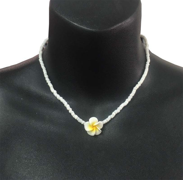Small Frangipani and Clam Shell Necklace