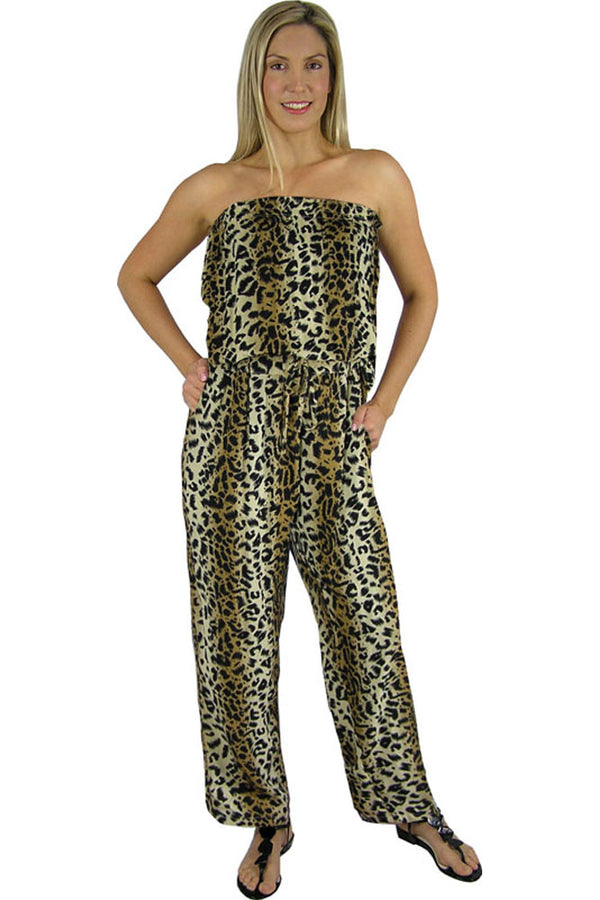 Long Jumpsuit Animal Print