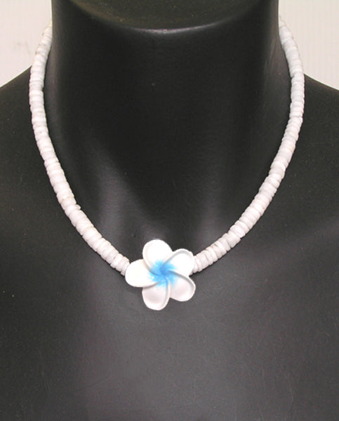 Frangipani and Clam Shell Necklace
