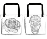 Single-Line Drawing Tote Bags