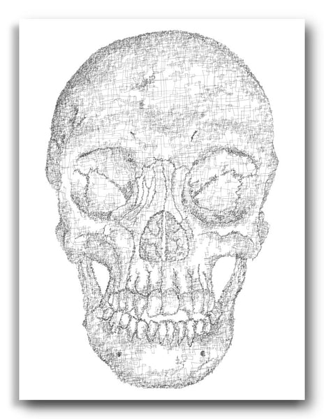 Single-Line Skull Digital Print