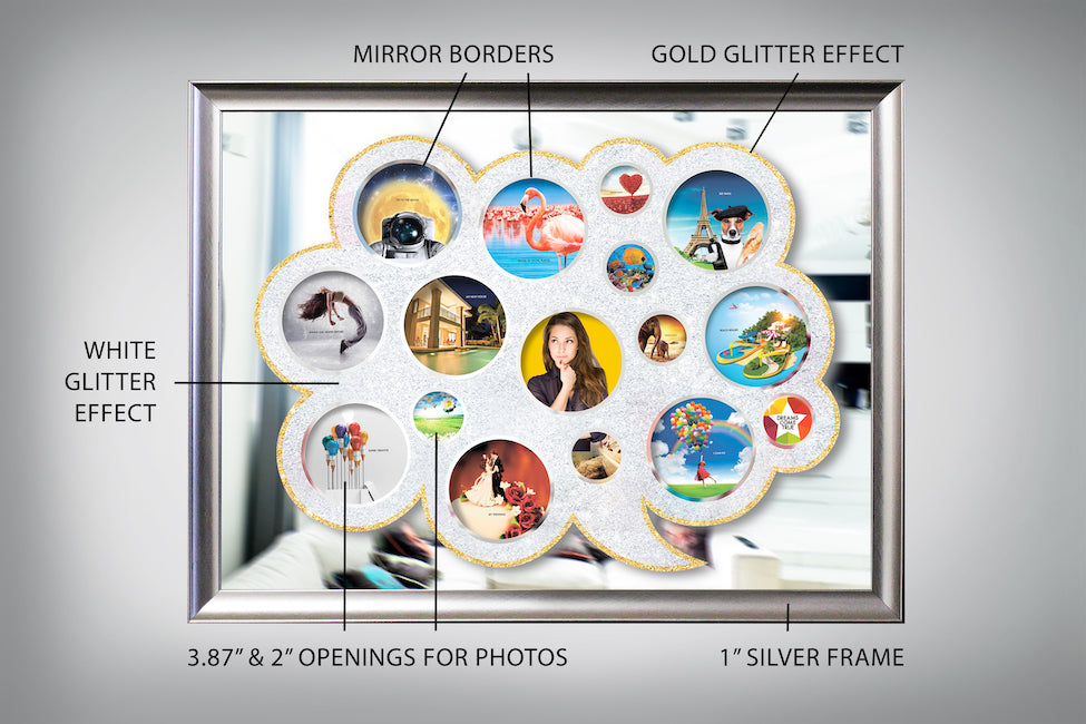 "Mirrored vision board ""On the cloud"", Dreams come true"