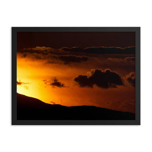 Framed poster - Moab sunset