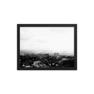 Framed poster - Salt Lake City panoramic view, 1908.
