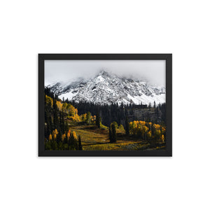 Framed poster - Peaks above Snowbird ski resort
