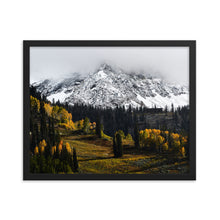 Load image into Gallery viewer, Framed poster - Peaks above Snowbird ski resort