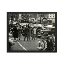 Load image into Gallery viewer, Framed poster - Downtown Salt Lake City circa 1950s