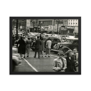 Framed poster - Downtown Salt Lake City circa 1950s