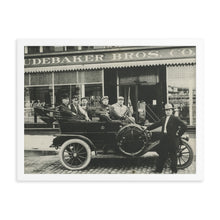Load image into Gallery viewer, Framed poster - Men posing in downtown Salt Lake City