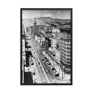 Framed poster - Main Street, Salt Lake City, 1950