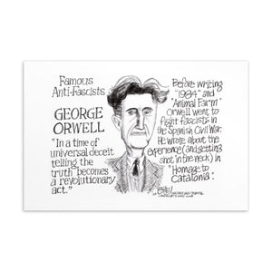 Famous anti-fascist postcard - George Orwell