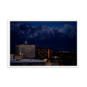 Salt Lake City lights Postcard