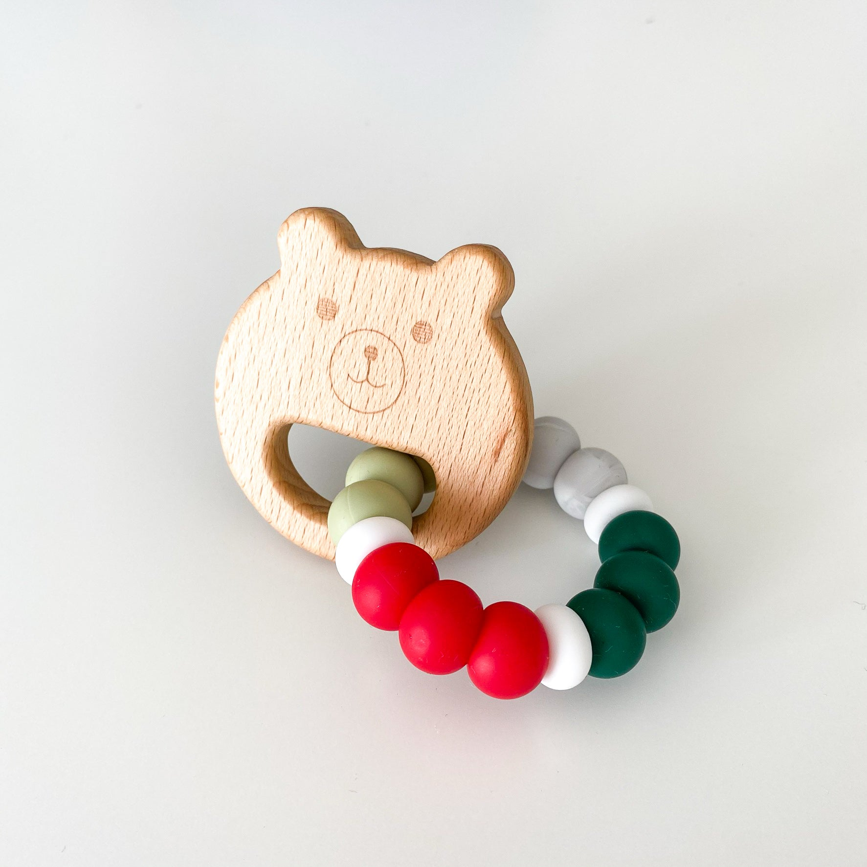 Teether - Holiday Bear Teething Ring