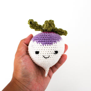 Rattle - Crocheted Turnip