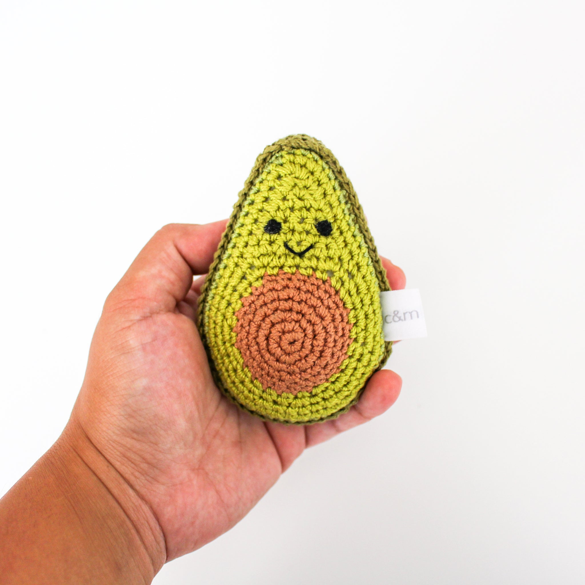 Rattle - Crocheted Avocado