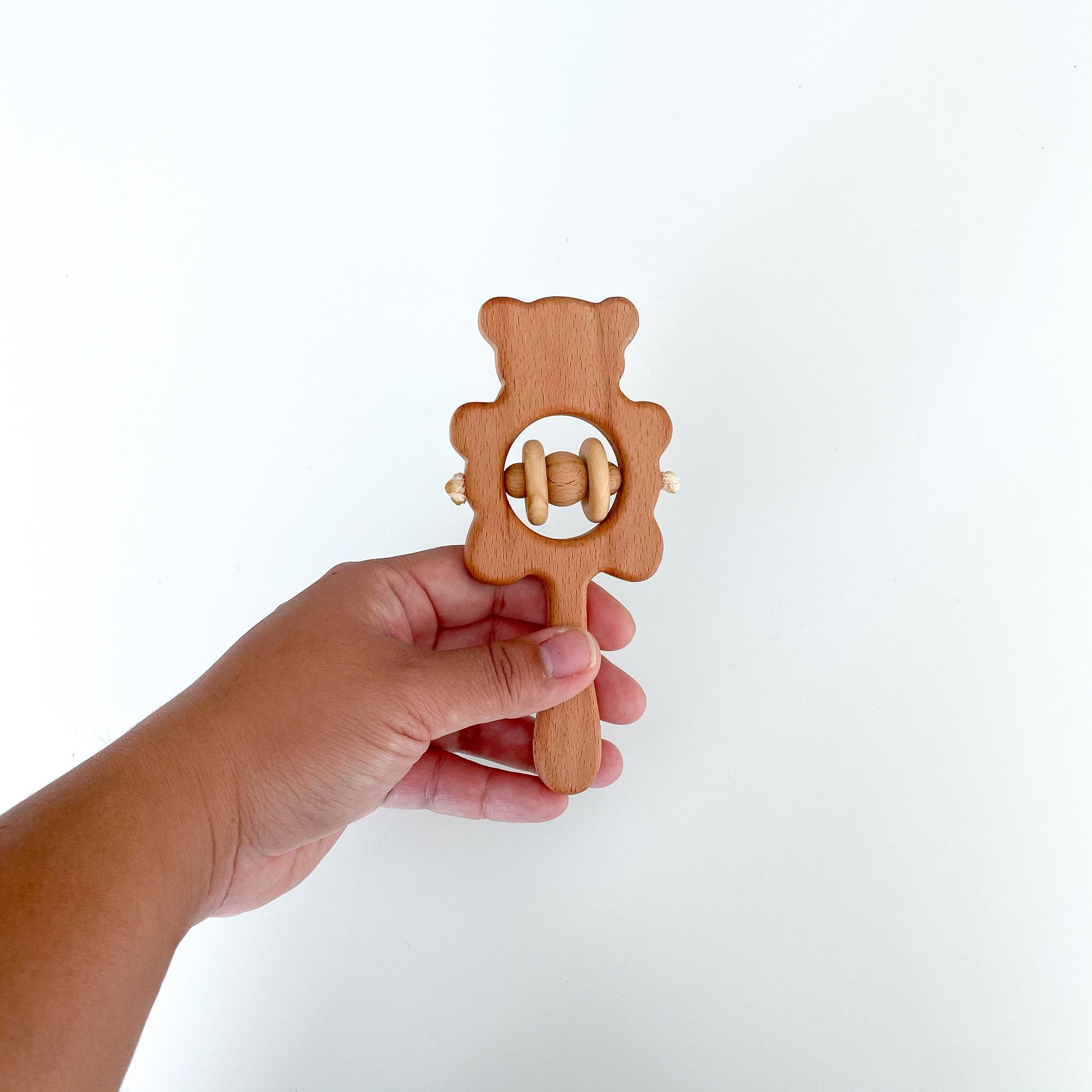 Rattle - Wooden Bear Shaker