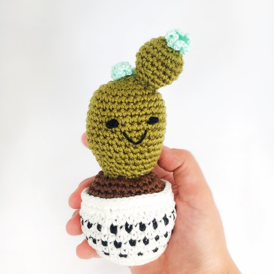 Rattle - Crocheted Cactus