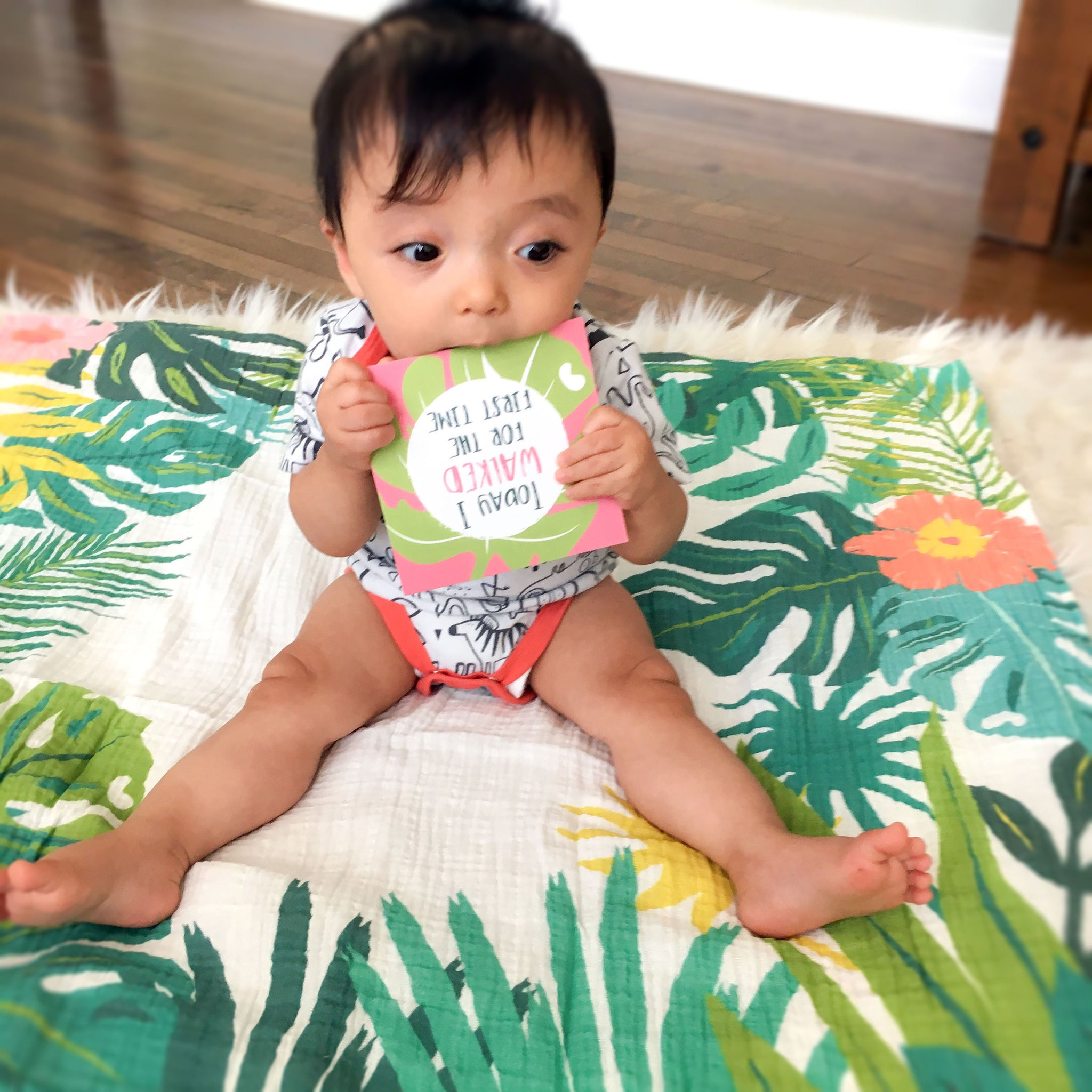 Milestone Blanket & Card Set - Jungle
