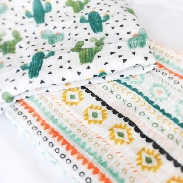 Organic Cotton Muslin Swaddle - Boho