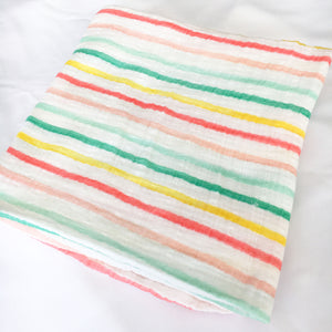 Organic Cotton Muslin Swaddle - Tropical