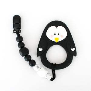 Teether & Paci Clip - Penguin