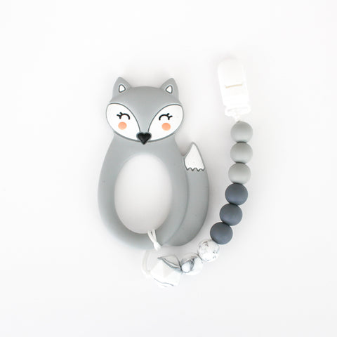 Teether & Paci Clip - Fox