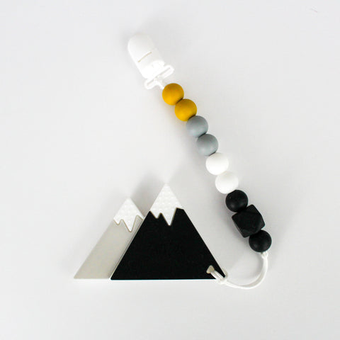 Teether & Paci Clip - Mountains