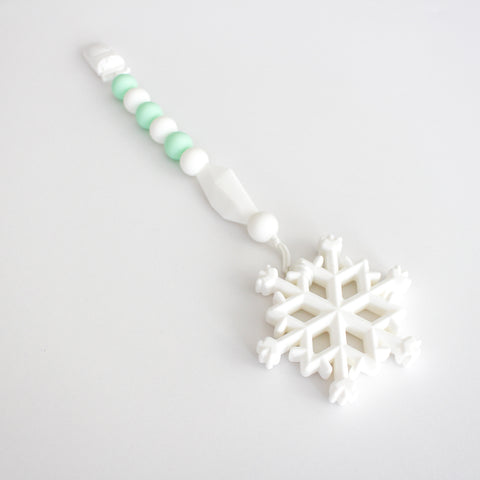 Teether & Paci Clip - Snowflake