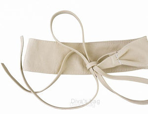 Sash Belt Beige New