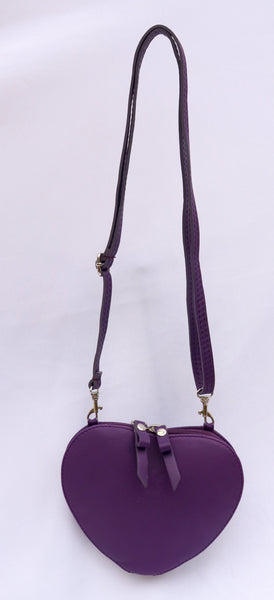 Cuore Purple Shoulder Bag