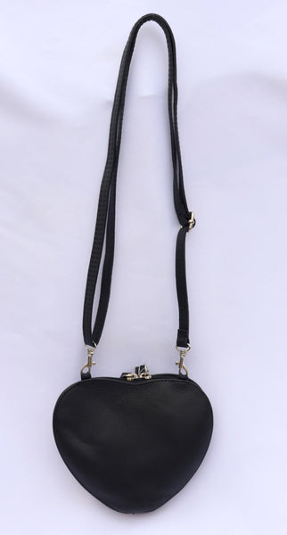 Cuore Black Shoulder Bag