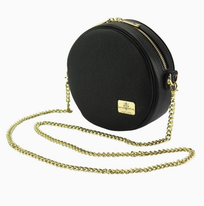 Kelli Black Round Crossbody