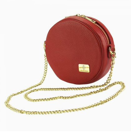 Kelli Red Round Crossbody