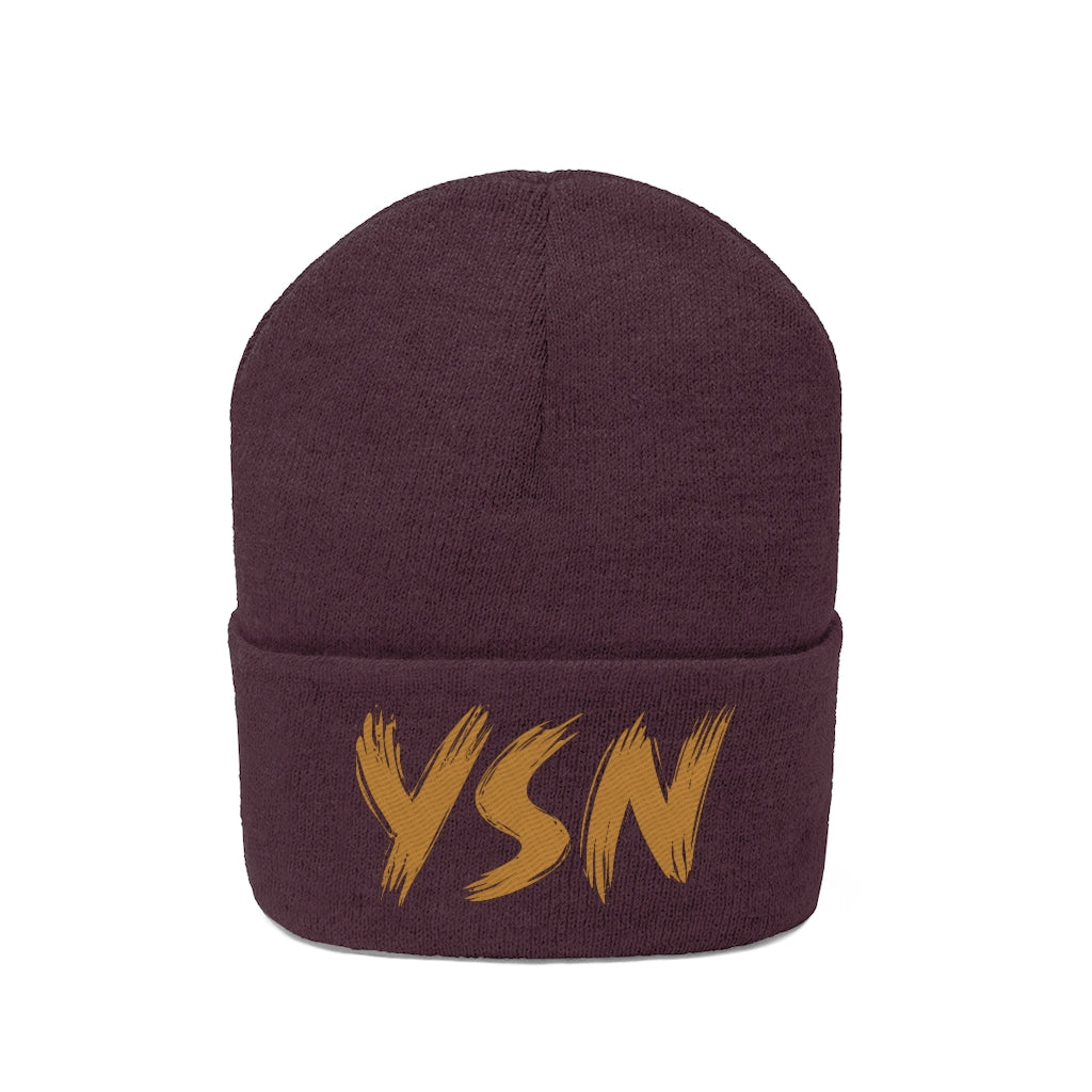 YSN Embroidered Beanie