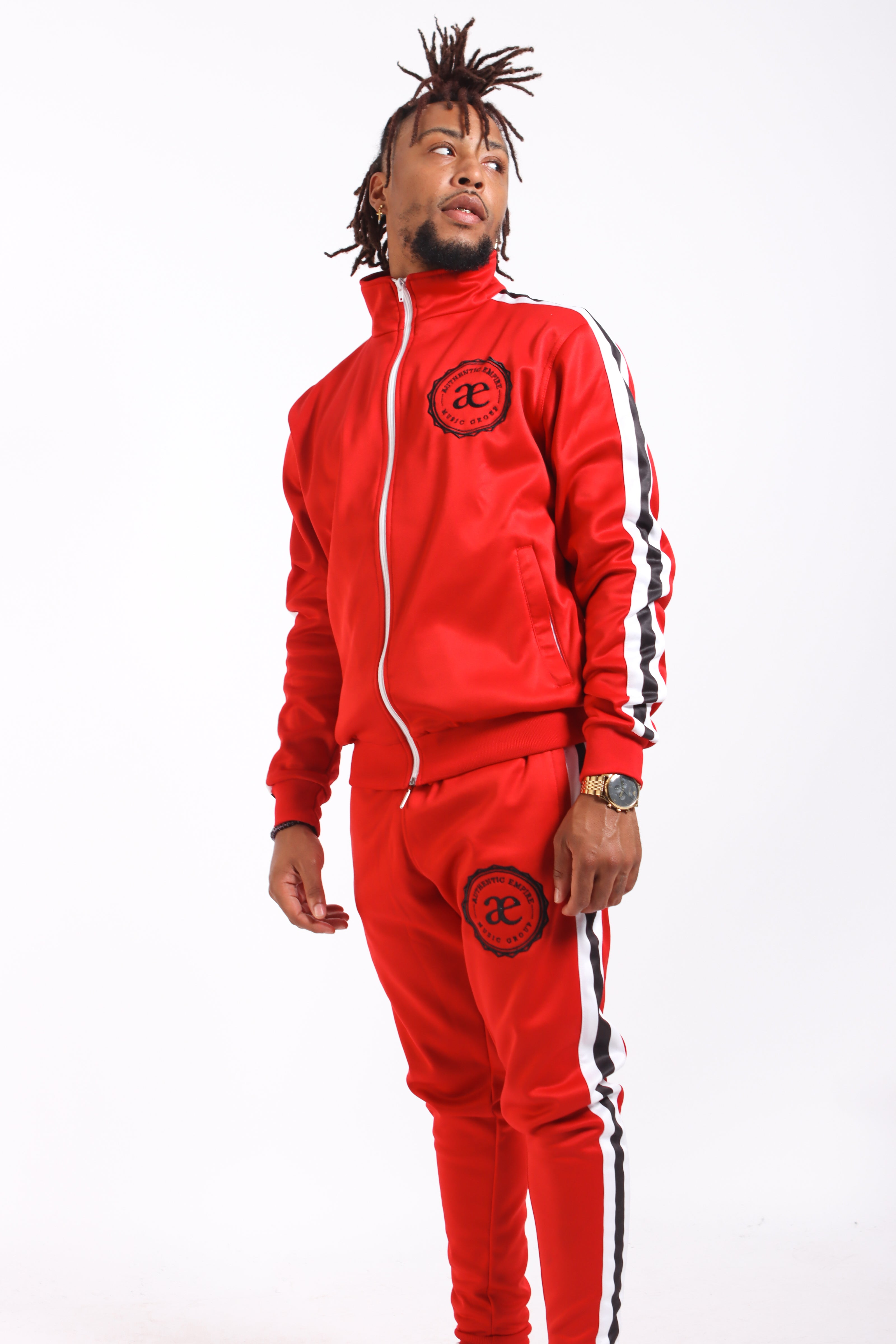 Authentic Empire Tracksuit Set - Red
