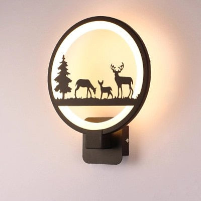 Luminous Forest Wall Lamp