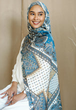 Load image into Gallery viewer, Adeeva Printed Shawl (Turquoise)