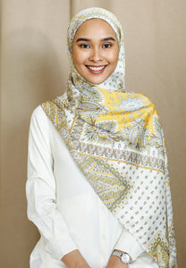 Adeeva Printed Shawl (Soft Yellow)