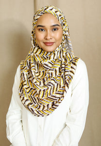 Zaheera Printed Shawl (Yellow)