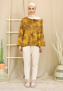 Irsaa Printed Top (Mustard Gold)