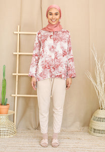Irsaa Printed Top (Pastel Red)